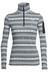 Icebreaker Vertex LS Half Zip Shirt Women Icon Fairisle snow/jet hthr/snow